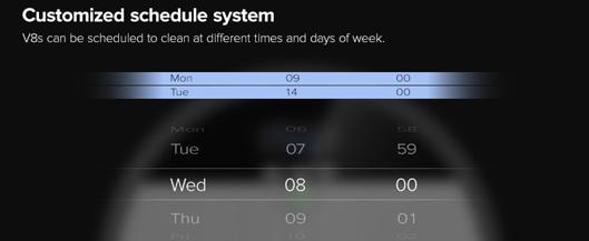 Ilife V8S Robotic Vacuum Cleaner smart schedule