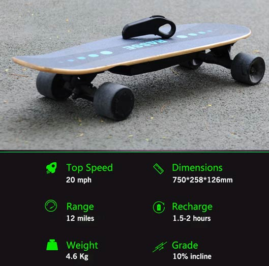 RASSE YB Off Road Electric Skateboard With Wireless