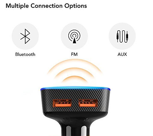Navigation and Music Streaming Alexa-enabled USB Car Charger