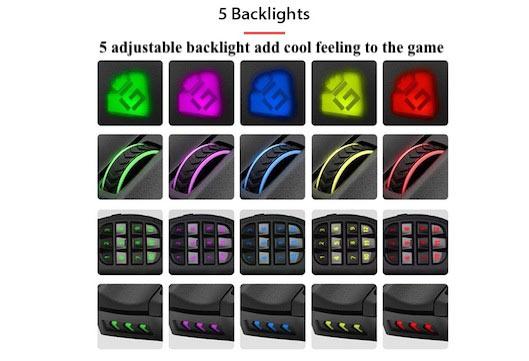 Rocketek Macro gaming mouse backlight
