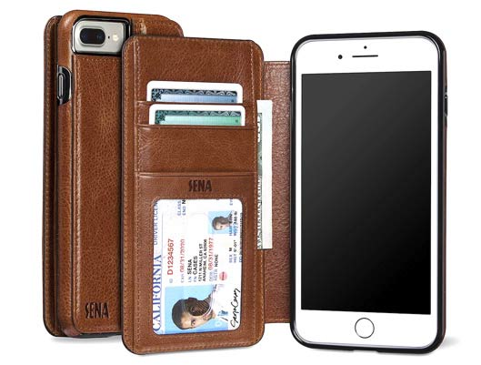 Sena Heritage Drop safe Leather Wallet Book Case for iPhone