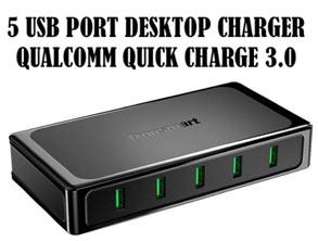 Tronsmart 5 USB Ports Desktop Charger