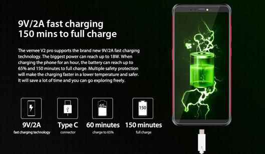 Waterproof Phone Vernee V2 Pro 4G Phablet