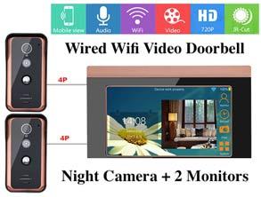 Wired Wifi Video Doorbell Intercom Kit