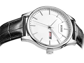Classic Watch With Calfskin Leather Band