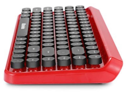 Ergonomic Bluetooth Retro Keyboard