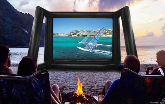 Inflatable Large Movie Screen for Home Theater Projector