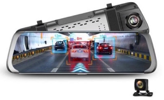 Junsun 10 inch HD 1080P DVR Rearview Mirror