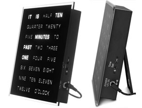 LED Clock That Displays Time as Text