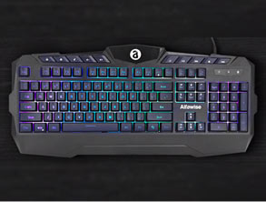 RGB Membrane Keyboard Ergonomic Keyboard for Gamers