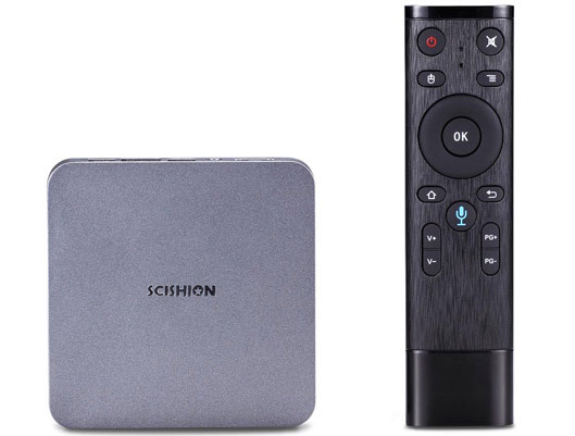SCISHION AI ONE Android 8.1 32GB TV Box with Voice Remote