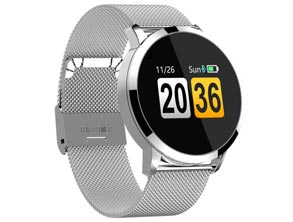 Stainless Steel Mesh Band Smartwatch
