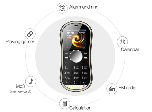 Very Small Rotating Handy Mobile Phone