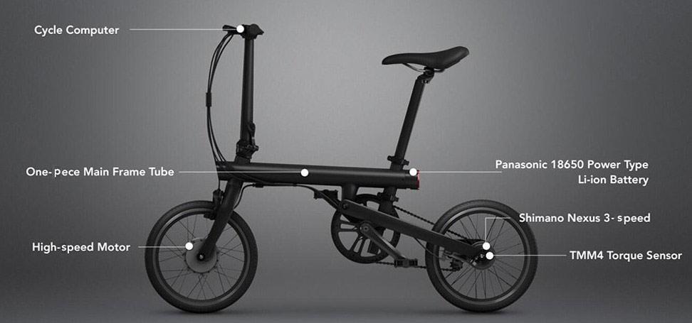 Xiaomi QICYCLE Folding Electric Bike specs