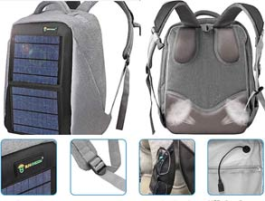 Best selling Solar Powered Fast Charging Backpack