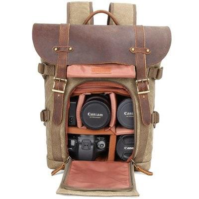 Best selling Vintage Camera Backpack For Photographer