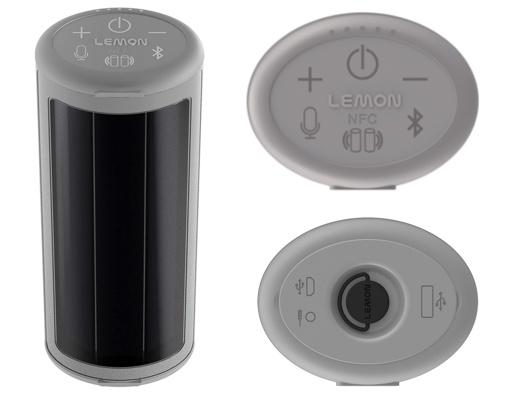 Lemon California Roll Solar Powered Waterproof Portable Wireless Speaker