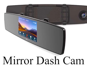 Mirror Dash Cam With Front and Rear big Discount