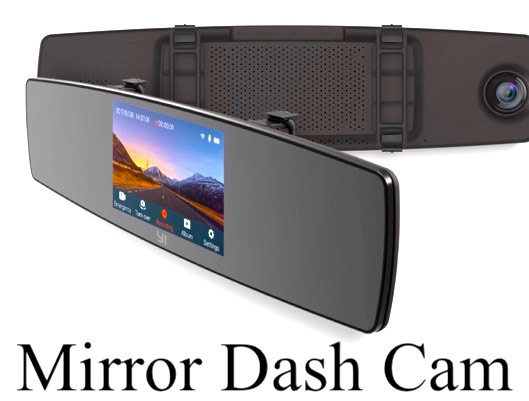 Mirror Dash Cam With Front and Rear View