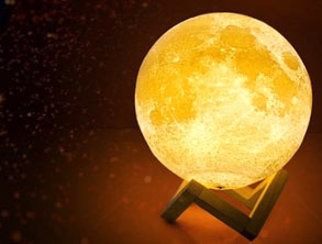 Moon Miniature Lamp With Warm Light
