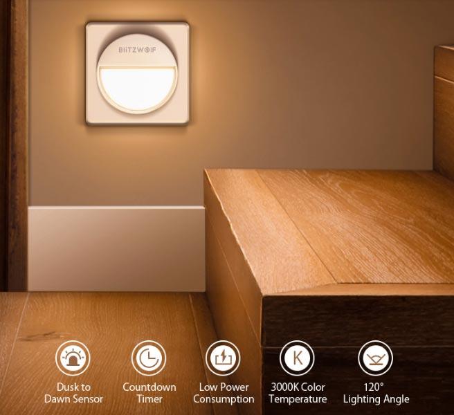 Smart Light Sensor Wall Night Light