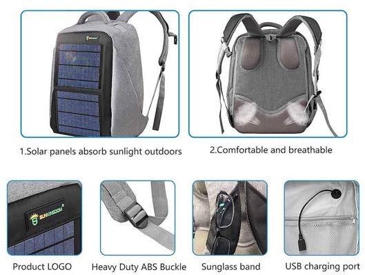 Solar Powered Fast Charging Backpack