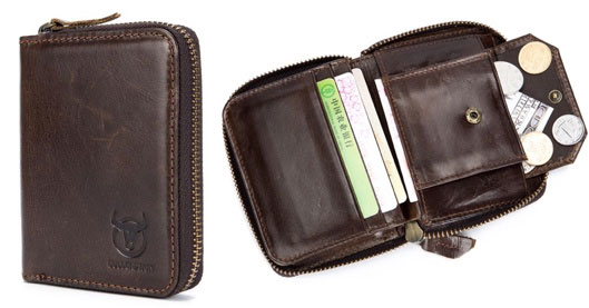 Vintage Genuine Leather RFID Card Holder
