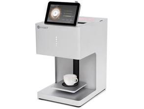 Coffee Maker Prints On The Milk Foam
