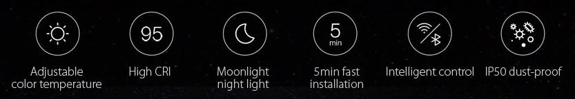 Smart Ceiling Light for Bedroom specs