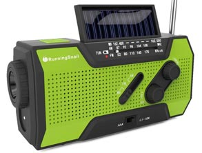 Solar Radio With Reading Lamp