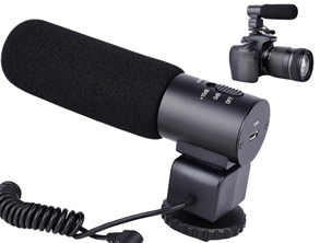 Wired Microphone To Fix On The Camera
