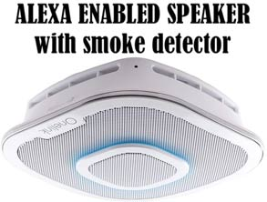 Alexa Enabled Speaker, smoke detector discount