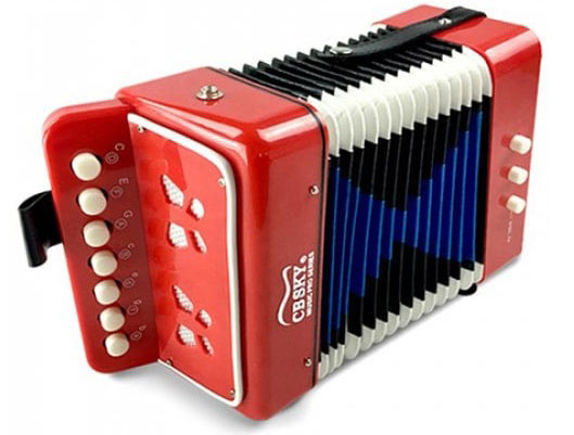 Bright 7 Keys Mini Accordion