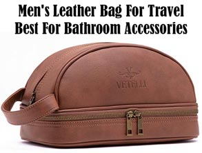 Leather Bag For Travel Bathroom Accessories