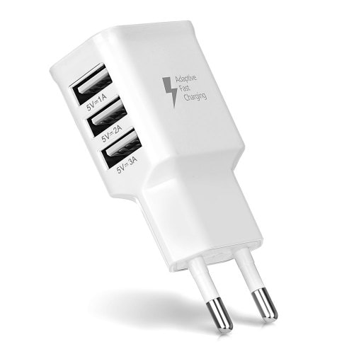 gocomma Universal 2A 3 USB Ports Multifunctional Travel Charger Adapter