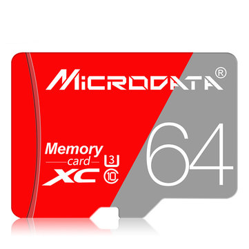 MicroData 16GB 32GB 64GB Class 10 High Speed TF Memory Card with Card Adapter for Mobile Phone