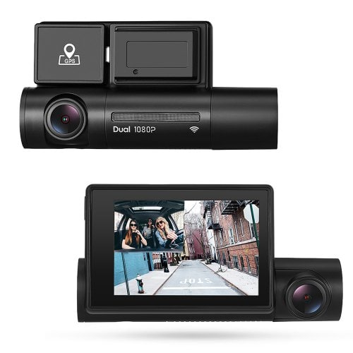 Alfawise LS02 Dual 1080P Car DVR Dash Cam with GPS And WiFi