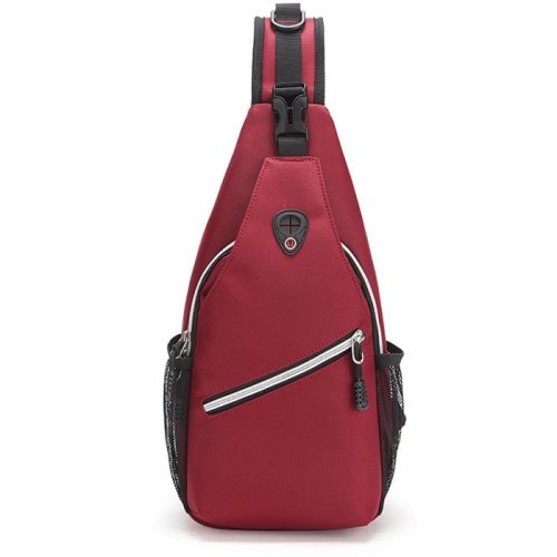 Oxford Cloth Casual Solid One Shoulder Chest Bag