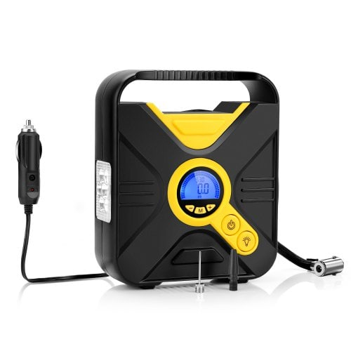 Tecney Portable Digital Car Tire Inflator Pump