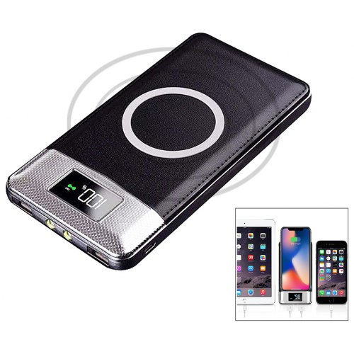 Smart Display Power Bank Qi Charger