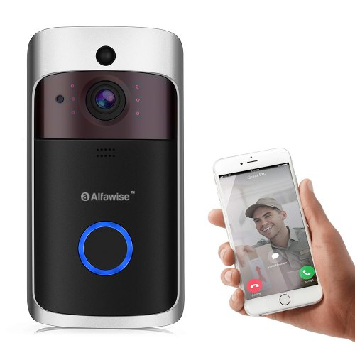 Alfawise L10 10m Night Vision Smart Home Security Video Doorbell With 1.4 inches Camera