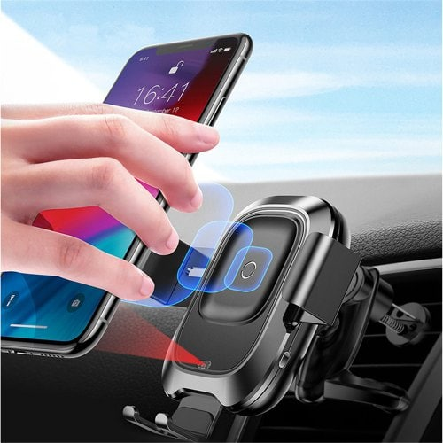 Baseus Car Qi Charger Smart Phone Holder