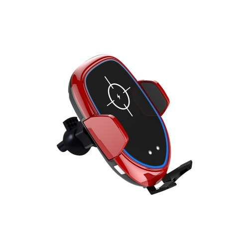 Shiny Red 10W Qi Wireless Car Charger
