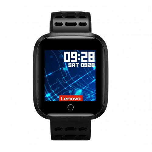 Lenovo E1 7H Hardness 2.5D Glass 1.33-inch TFT Screen Smart HR Sleep Algorithm Fitness Smartwatch International Version