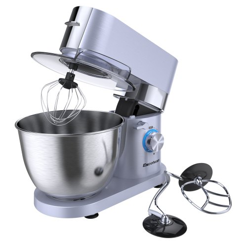 Excelvan Electric Kitchen Mixer Multi Speed Stand Mixer 5.5L Stainless Bowl With 1500W High-powered Motor (Europe)