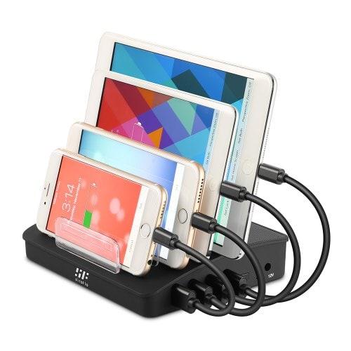 Siroflo Desktop Multi Port Portable Phone Charger With Bluetooth Speaker