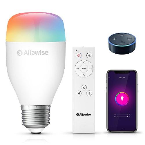 Alfawise LE12 E27 App Voice Control Smart LED Bulb