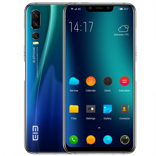 Elephone A5 4G Phablet 6.18 inch - Blue Ivy