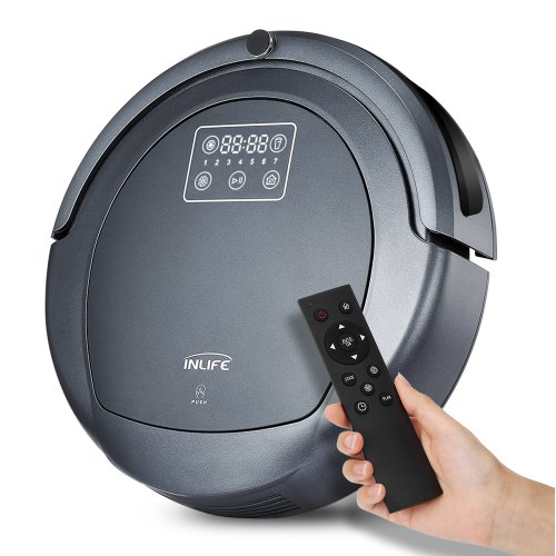 Inlife ZK8077 Robotic Vacuum Cleaner Light Grey EU