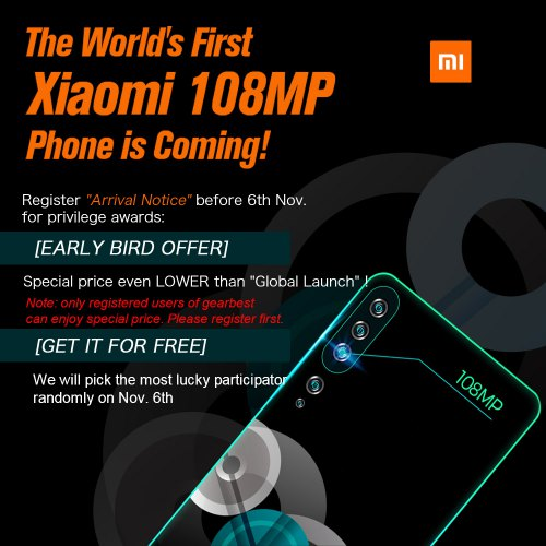 World's First 100MP Smartphone Xiaomi Note10 Phone
